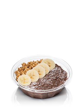 Chocolate Chia Pudding with Bananas