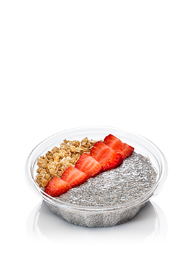 Vanilla Chia Pudding with Strawberries